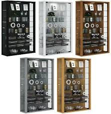 glass display cabinet wall mounted tall