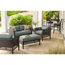 patio furniture home depot. hampton bay fenton 4piece patio seating set with peacock java cushion furniture home depot s