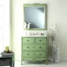sage green bathroom vanity unit inch vintage mint finish