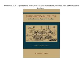 Dispensational Chart Pdf Download Pdf Dispensational Truth With Full Size