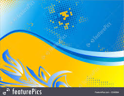Templates Two Coloured Background Stock Illustration