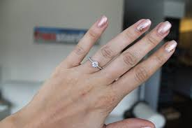 Engagement Ring Carat Size Chart What Carat Size For 4 5 Size Finger Pictures Please