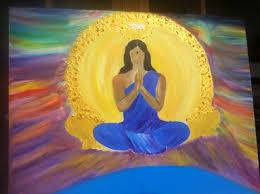 original yoga painting omwoman yoga meditate. Woman Reading The Future \u2013 Original Painting · Trans Yogi Yoga Omwoman Meditate