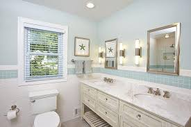 bathrooms with glass tiles. Cottage Bathroom With Blue Glass Tiles Bathrooms