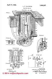 heating equipment age determination how to data tags on royal metal works gas heater 1928 patent c inspectapedia