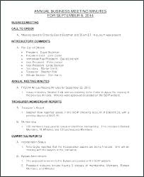 Corporate Meeting Minutes Examples Small Business Meeting Minutes Template