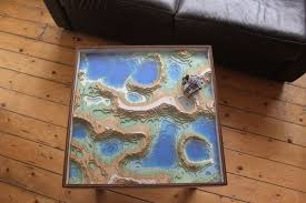 topographic coffee table inspired by