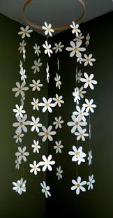 flower mobile paper daisy mobile inspired by pottery barn kids for nurser image source