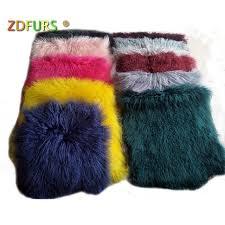zdfurs hot tibetan lamb rug sheep skin blanket mongolian lamb fur womens scarves
