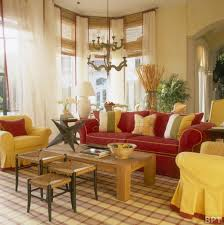 Living Room With Red Furniture Classic Interior Living Room Design With Yellow And Red Sofa