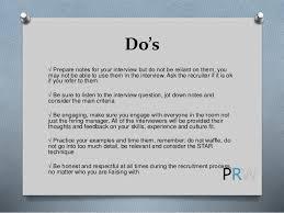 Do's ...