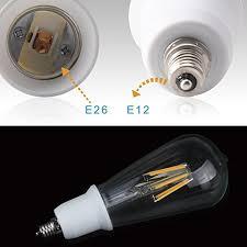 jackyled 5 pack e12 to e26 e27 adapter chandelier light socket e12 to medium socket