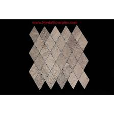 travertine diamond tile backsplash