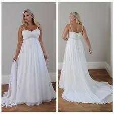 Wedding Dress Plus Size Chart Details About White Wedding Dress Ivory Spaghetti Chiffon Bridal Gowns Plus Size 22 24 26