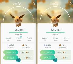 Eevee Iv Chart Can Someone Explain These Eevee To Me How Can One Be Lower