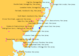 Nj Shore Tide Chart Map Of Jersey Shore Holidaymapq With Regard To New