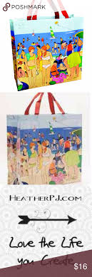Beach Touris Tote Bag Made From Recycled Materials Tourist Beach Tote Bag  Made from 95-
