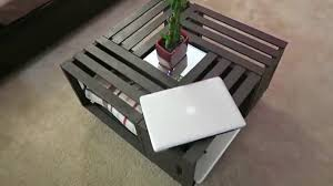 diy wooden coffee table with storage