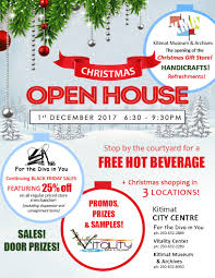 christmas open house flyer christmas open house in 3 locations kitimat museum archives