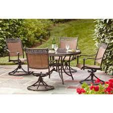 patio dining: niles park  piece sling patio dining set