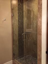 frameless door panel shower glass accents frameless glass shower panel brisbane