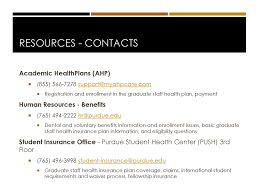 Can i start my studies in canada online without a how is my health insurance affected? Graduate Staff Benefits Ppt Download