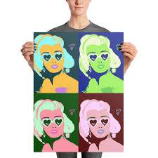 marilyn monroe pop art andy warhol inspired print original artwork multiple sizes high quality er photo paper famous celebrity