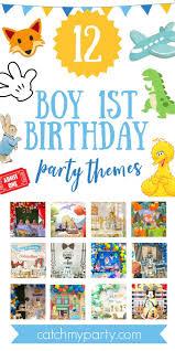 popular boy 1st birthday party themes