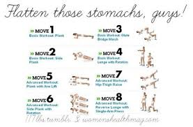 Stomach Exercise Chart Flat Stomach Exercise Chart Abs Workout For Flat