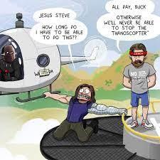 Bucky preparing for Infinity War ...
