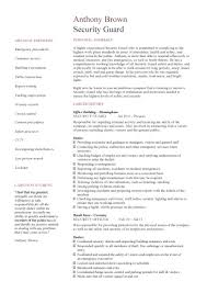 Security Officer Resume Classy Security Officer Resume Musmusme
