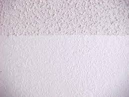 acoustic texture ceiling with knockdown on the walls