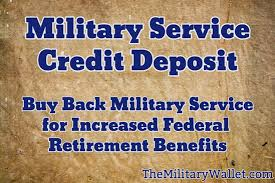 Naf To Gs Equivalent Chart Military Service Credit Deposit Buy Back Military Time