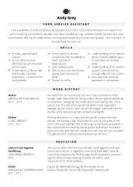 Management Cv Template Free Food Services Assistant Cv Template Cv Template Master