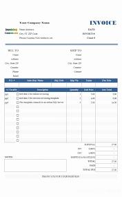 Word Spreadsheet Templates Invoice Spreadsheet Template Microsoft Works Invoice Templates For