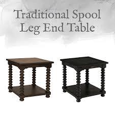 spool leg end table
