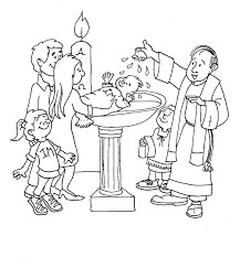 Printable Coloring Pages Baptism Holidays And