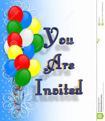 Birthday Party Invitation Birthday Party Invitation Balloons Stock Illustration Illustration