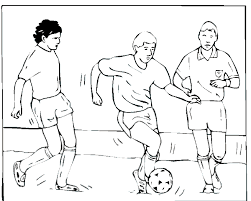 Small Picture Soccer coloring page Soccer player dribbles down the field