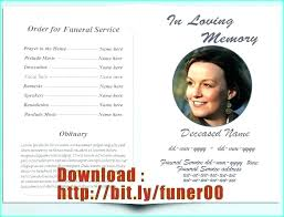 Microsoft Publisher Program Template Funeral Program Template Publisher