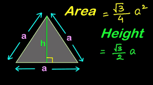 Find Area and Height of an Equilateral
