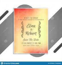 Beautiful Wedding Invitation Card Design Beautiful Wedding Invitation Card Design Vector Stock Vector
