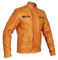 mens tan weybridge leather jacket