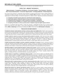 Cover Letter Market Research Manager Resume Sample With