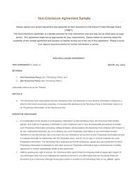 Nda Template Free Download Non Disclosure Agreement Free Download Edit Fill Pdf