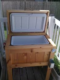 diy patio deck cooler stand