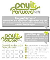pay it forward day  pay it forward day card primary