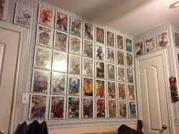 Minimalist Bedroom Design with Imaginative Comic Book Wall Art, Decorative  Striped Pattern Wall Design,