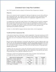 Sales Commissions Template Chanimal Sales Compensation Guidelines Template Chanimal Store