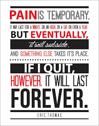 Eric Thomas Quotes Inspiration Eric Thomas Quote Pain Is Temporary Motivational By WallVibes